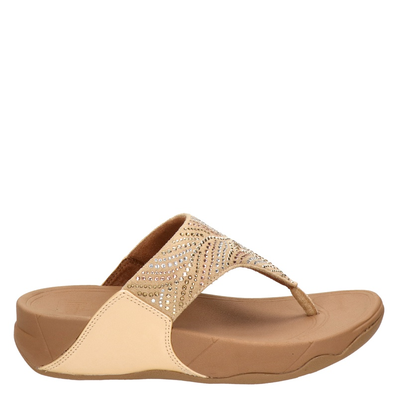 Fitflop Lulu Crystal Feather - Slippers - Beige