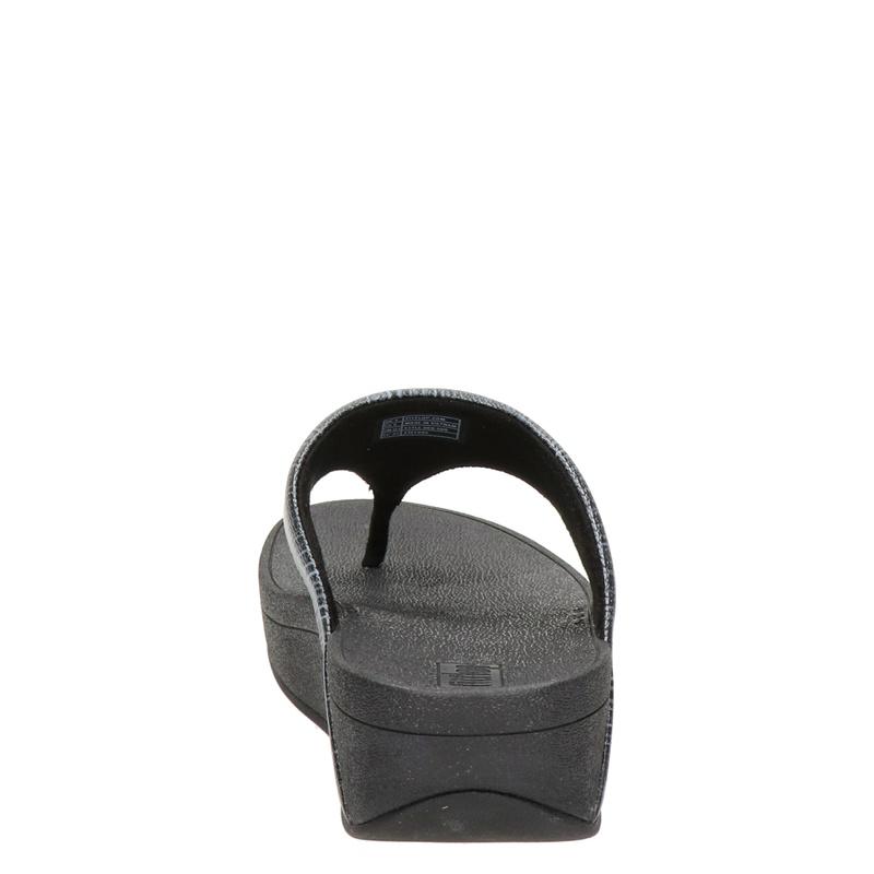 Fitflop Olive Textured Glitz - Slippers - Zwart
