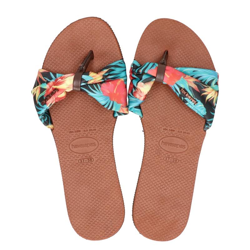 Havaianas You Saint Tropez - Slippers - Bruin