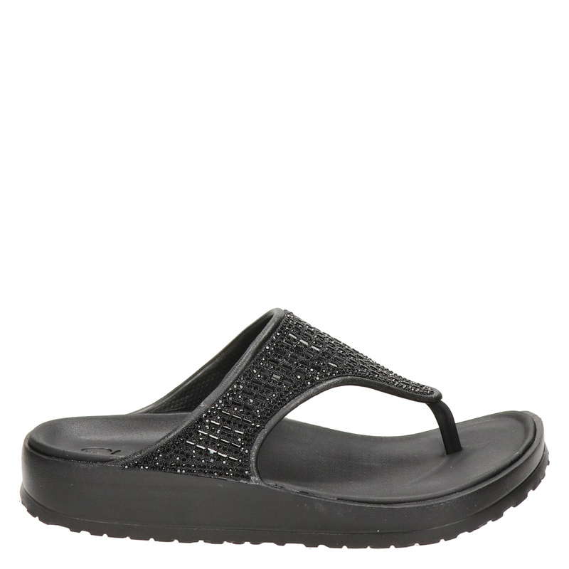 Skechers Cali Breeze 2.0 - Slippers - Zwart