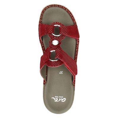 Ara dames slippers Rood