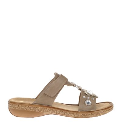 Rieker dames slippers taupe