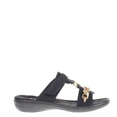 Rieker dames slippers zwart