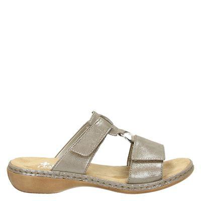 Rieker dames slippers beige