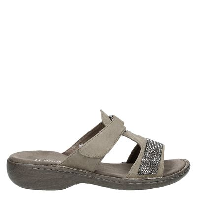 Jenny dames slippers taupe