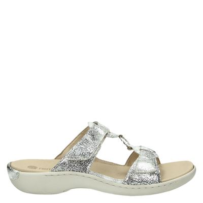 Remonte dames slippers zilver
