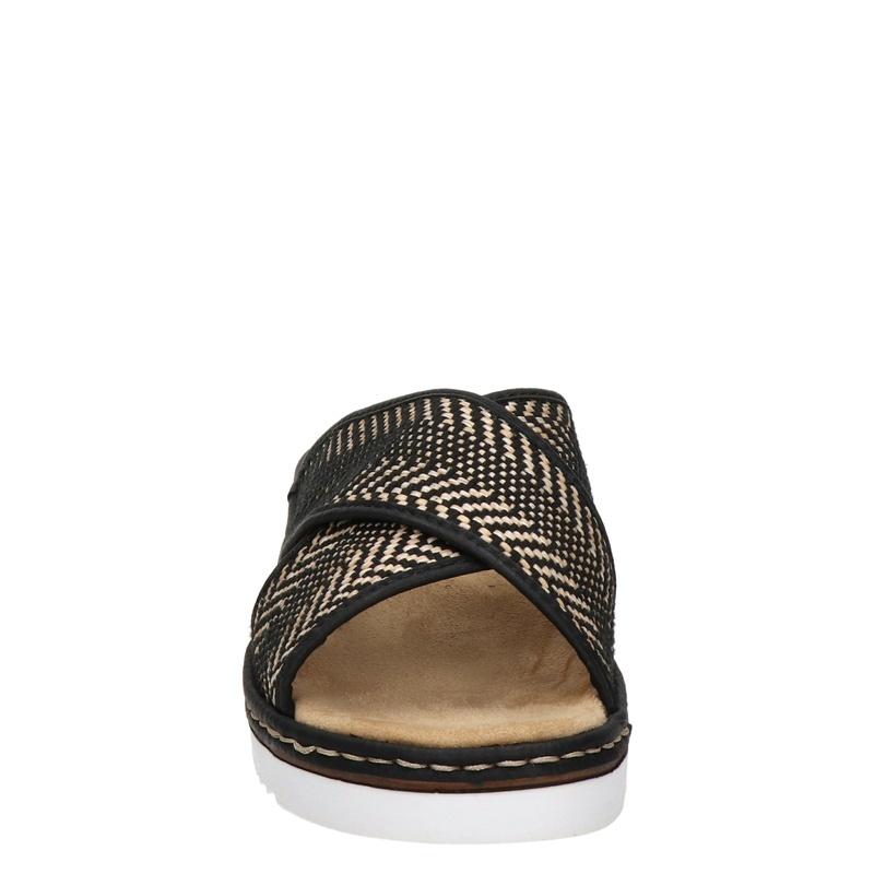 Rieker - Slippers - Zwart
