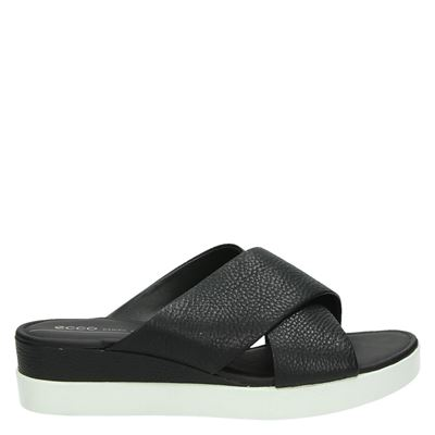 Ecco dames slippers zwart