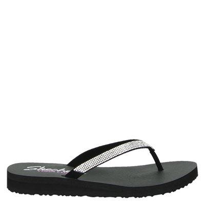 Skechers dames slippers zilver