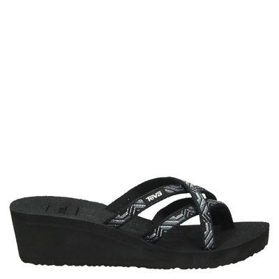 Teva dames slippers zwart