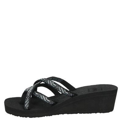 Teva W Mush Mandalyndames slippers Zwart