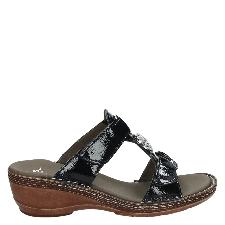42 Sandales Noires Par Ara 5mc23