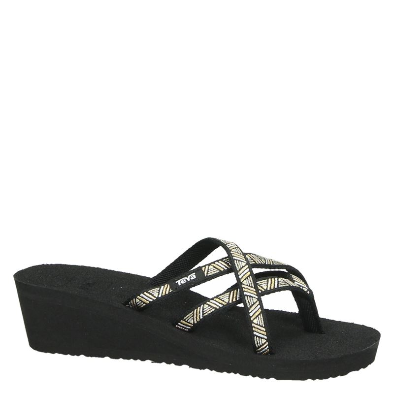 Teva Mush Mandalyn Wedge - Slippers - Zwart
