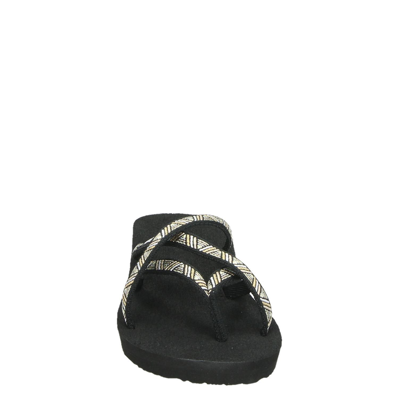 Normaal Mandalyn Teva Mush Wedge Zwart Dames Slippers q4Aj53RL
