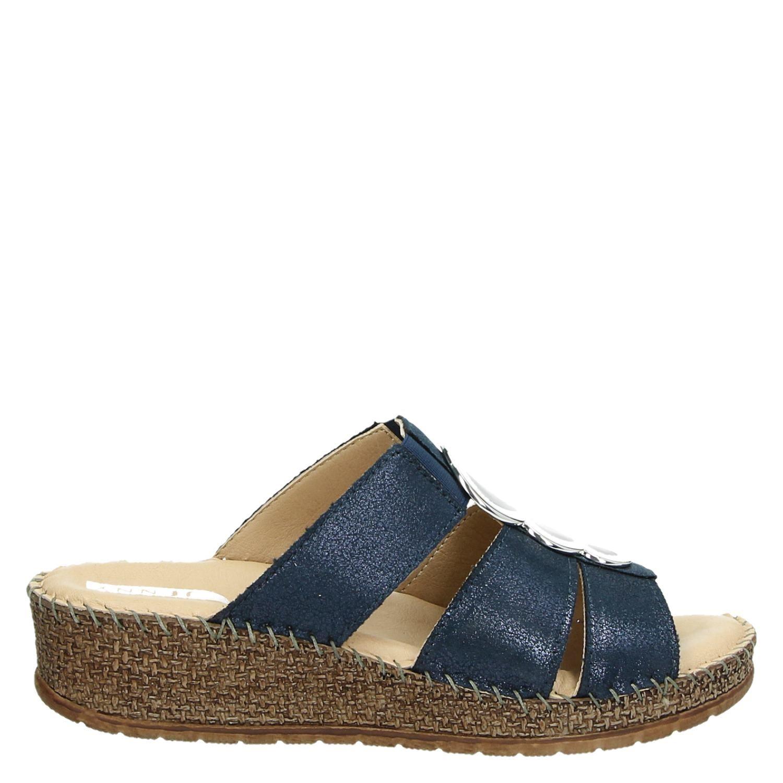 97d6db73ede1cc Jenny dames slippers blauw