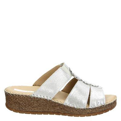 Jenny dames slippers zilver