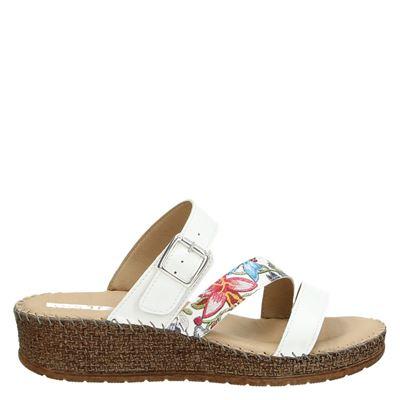 Jenny dames slippers wit
