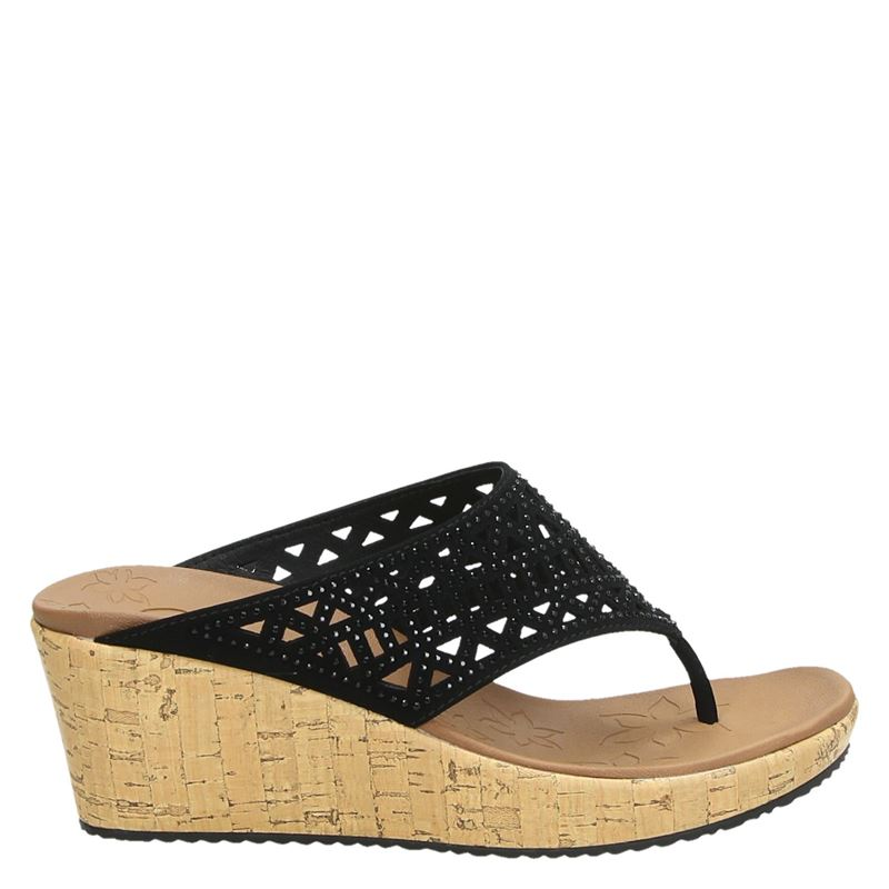 Skechers Beverlee - Summer Visit - Slippers - Zwart