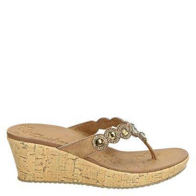 Skechers dames slippers bruin