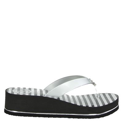 Guess dames slippers zilver
