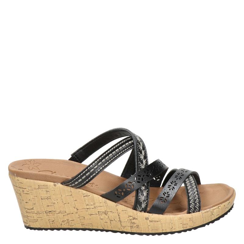 Skechers Luxe Foam slippers zwart online kopen