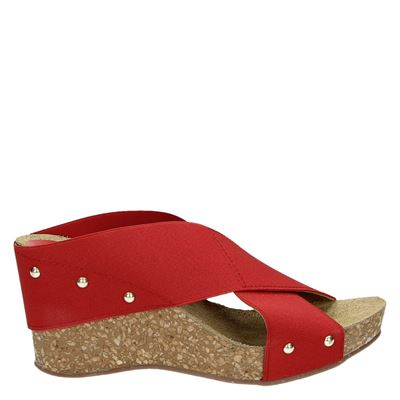 Nelson dames slippers rood