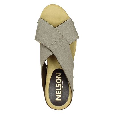 Nelson dames slippers Taupe