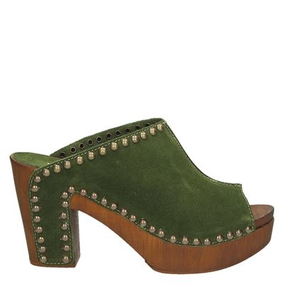 Replay dames slippers groen