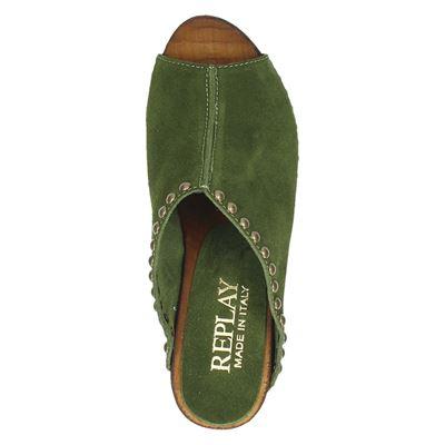 Replay dames sandalen Groen
