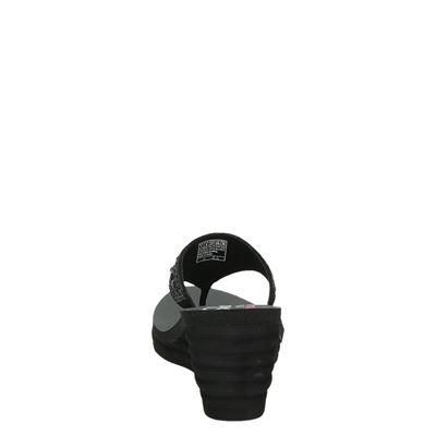 Skechers dames slippers Zwart