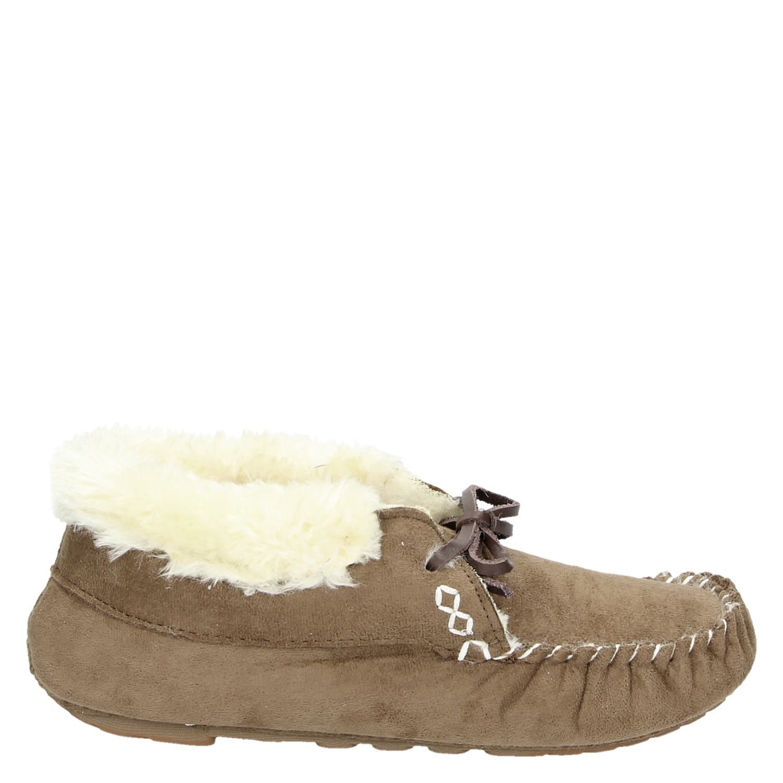 Beste Ruby Brown dames pantoffels bruin SD-05