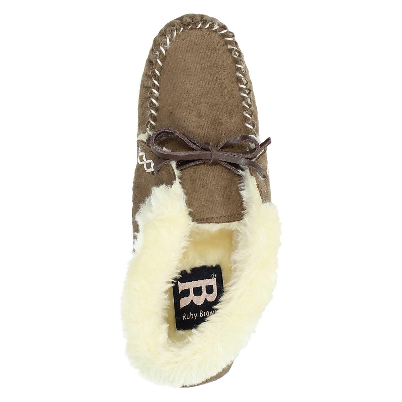 Fonkelnieuw Ruby Brown dames pantoffels bruin FM-76
