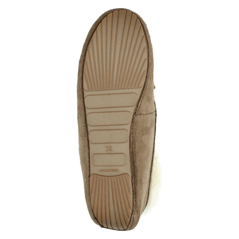 Hedendaags Ruby Brown dames pantoffels bruin ER-04