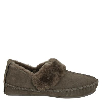 Warmbat Australia dames pantoffels bruin