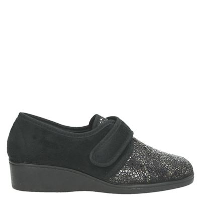 Campello dames pantoffels zwart