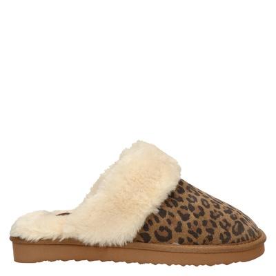 Alpacas dames pantoffels bruin