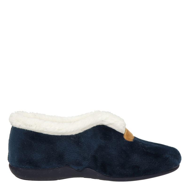 Comfort plus pantoffels blauw online kopen