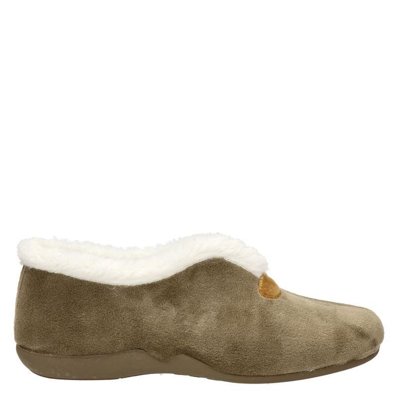 Comfort plus pantoffels taupe online kopen