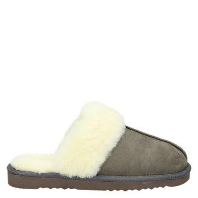 Nelson dames pantoffels grijs