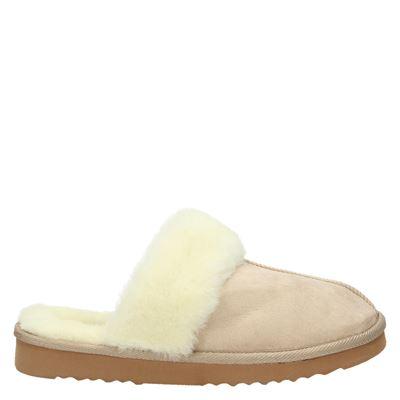 Supercracks dames pantoffels beige
