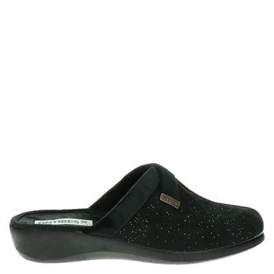 Antibes dames pantoffels zwart