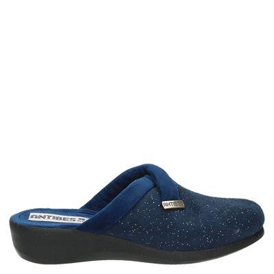 Antibes dames pantoffels blauw