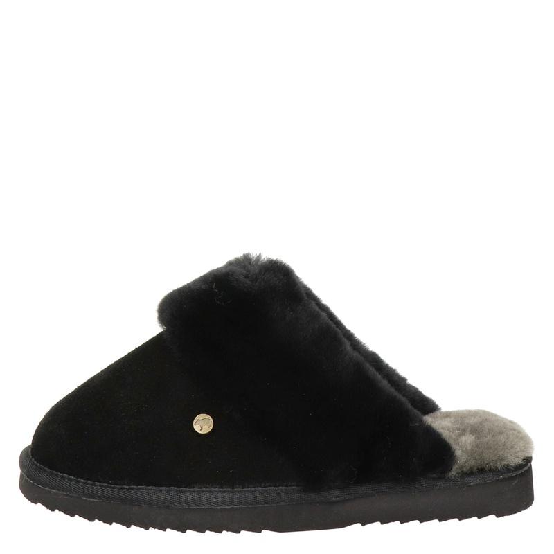 Warmbat Australia Flurry - Pantoffels - Zwart
