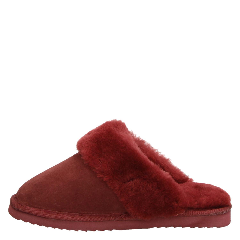 Normaal Dames Pantoffels Australia Warmbat Rood m0Nn8w