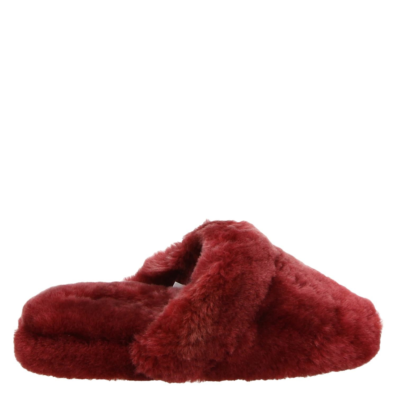 Pantoufles Rouges Alpagas 1n3y70T7b