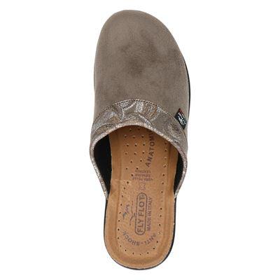 FlyFlot dames pantoffels Taupe