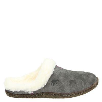 Sorel dames pantoffels grijs