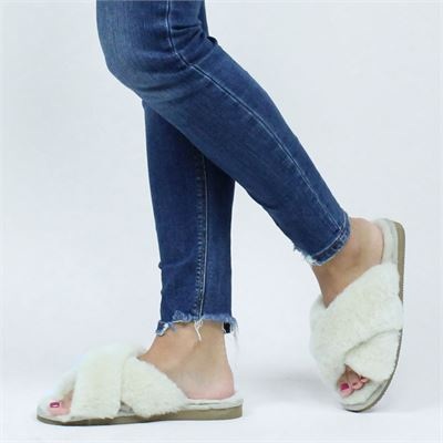Shepherd dames pantoffels ecru