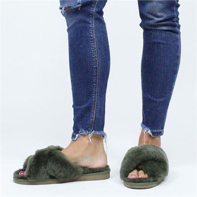 Shepherd dames pantoffels groen