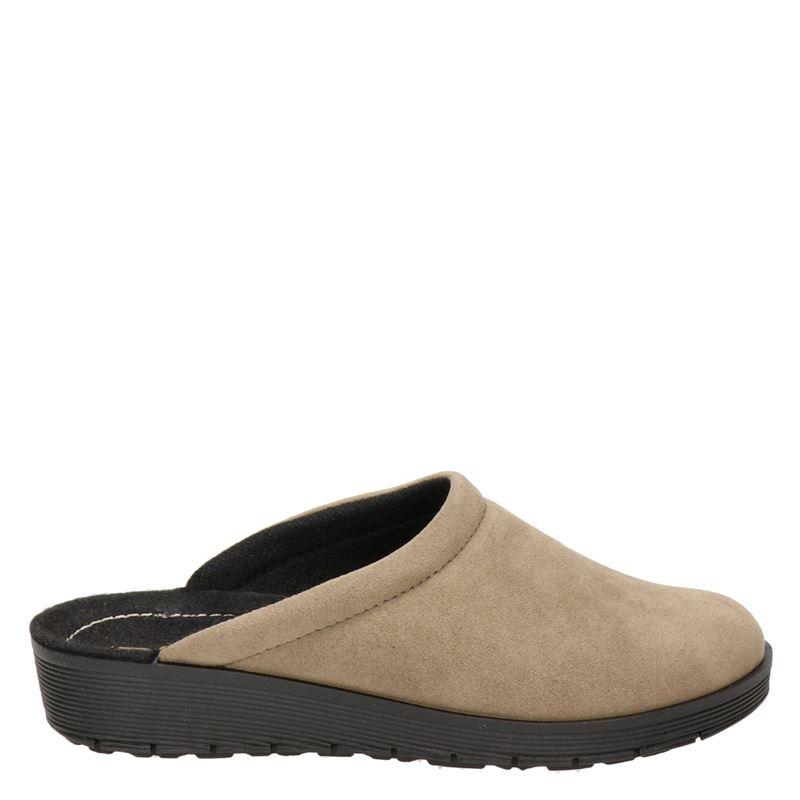 Rohde pantoffels taupe online kopen